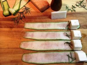 brochetas calabacin queso1