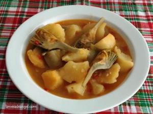 alcachofas patatas